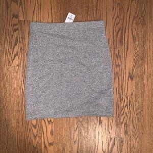 Stretchy Gray Mini Skirt